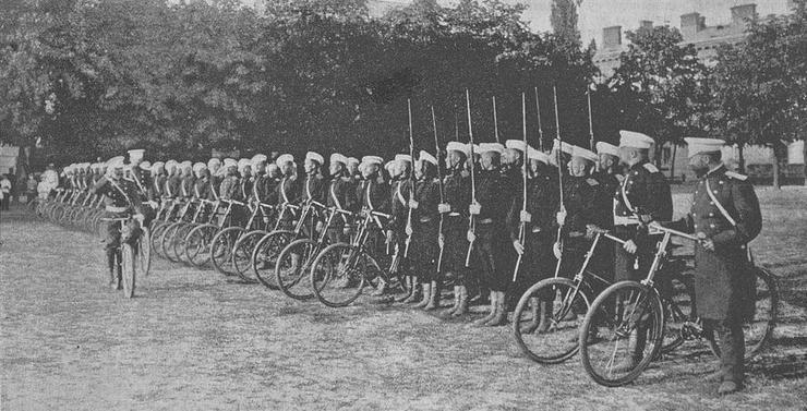 Краткая история велосипедных войск